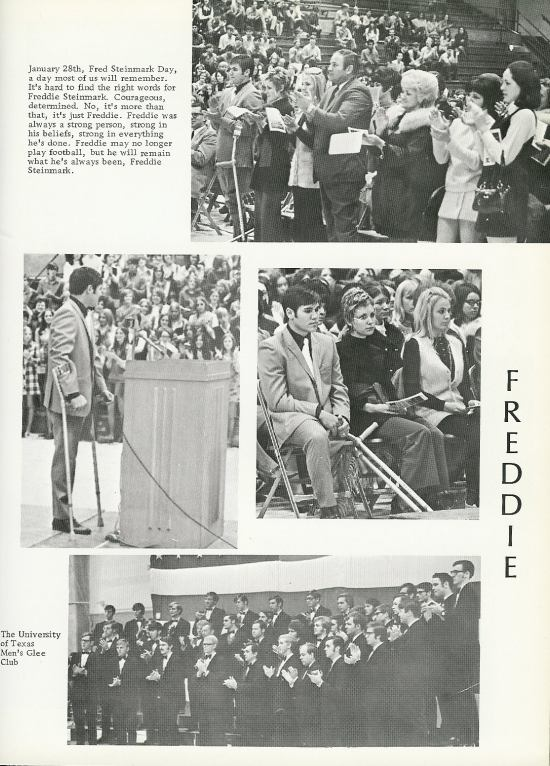 Freddie Steinmark Day at WRHS, page from Agrarian 1970